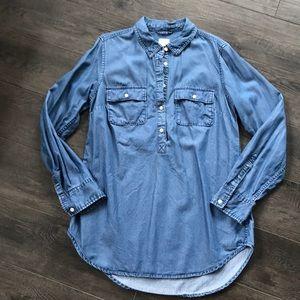 Lightweight jean shirt